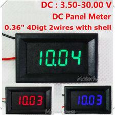DC 3.5-30V 4 Digital LED Volt Voltage Meter Voltmeter 5V 12V 24V car Battery