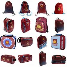 West Ham FC Bag  Backpack/Ruck Sack Boot Bag/Shoe Bag Lunch Bag Gym/Swim Bag