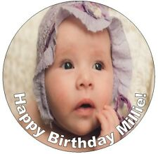 """YOUR OWN PERSONALISED PHOTO Edible Icing Cake Topper 7.5"""""""