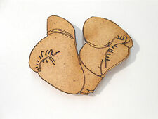 10x WOODEN BOXING GLOVES SHAPES gift tag craft card embellishment scrapbook wood