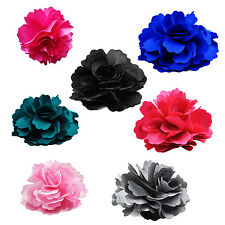 Silk Flower Hair Clip Wedding Corsage Flower Clip 8cm ZH