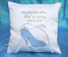 Personalized Happily Ever After Princess Cinderella Slipper Ring Bearer Pillow