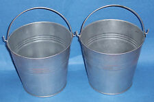 Set of 2 Galvanised metal bucket small 5""