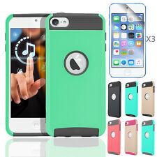 Hybrid Shockproof High Impact Rubber Slim Hard Case Cover for iPod Touch 6 5 Gen