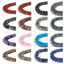 Natural Matte Frosted Gemstone Round Loose Spacer Beads 15''  Strand 4mm 6mm