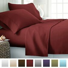 Bed Sheet Set Deep Pocket 4 Piece 1800 Series Soft Brushed Microfiber