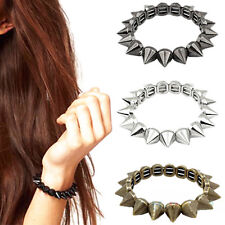 Girls Bracelet Punk Rock Gothic Rock Rivet Stud Spike Rivet Bangle  vhk