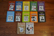 COMPLETE HC Diary of a Wimpy Kid Jeff Kinney Set of 12 Movie & Do-It-Yourself