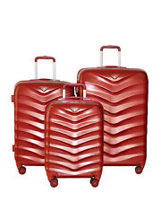 Verage Wave Luggage Set of 3 Spinner Suitcases Red