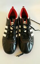 CLASSIC BLACK & RED ADIDAS ADI QUESTRA  SIZE 5.5 FOOTBALL BOOTS.