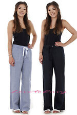 Ladies EX M&S Cotton Linen Style Summer Casual Holiday Trouser Pants.