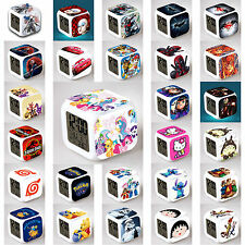 7 LED Color Glowing Cube Digital Alarm Clock Movie Cartoon Customized Children