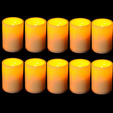 Bulk lot 2pcs Indoor Flameless Resin Pillar LED Candle with 4&8 Hour Timer