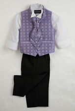 Boys Lilac Waistcoat Suit, Baby Boys Suits, Boys Wedding Suits, Page Boy Suits