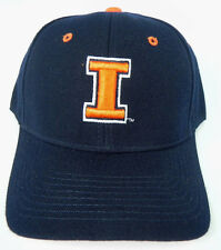 ILLINOIS FIGHTING ILLINI NAVY NCAA VINTAGE FITTED SIZED ZEPHYR DH CAP HAT NWT!
