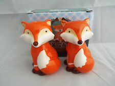 Cute Fox Novelty Salt & Pepper Pots Gift Set British