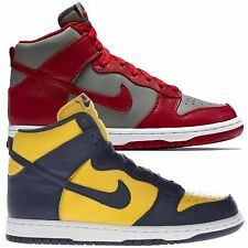 Nike Women's Dunk Retro QS Basketball Hi Top Sports Gym Navy/Yellow Trainers