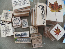 Wood Mounted Rubber Stamp NEW Christmas Halloween Wedding Travel Reindeer