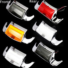 New Rear&Front Mudguard Trim Fender Tip LED Light For Harley Touring Parts