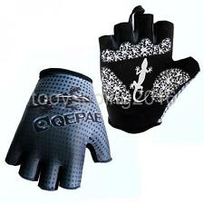 1Pair Road Cycling Bike Half Finger Gloves Breathable Sports Riding Mitts