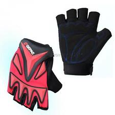 Racing Cycling MTB Bike Bicycle Gel Half Finger Gloves M/L/XL Blue/Red