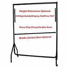 ❤ 6ft GARMENT RAILS HEAVY DUTY SHOP RETAIL HANGING DISPLAYS STAND CLOTHES RACK