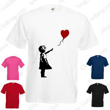 Banksy Girl With Red Baloon Art Urban Graffiti Modern Valentines T Shirt S-XXL