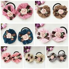 2pcs/lot boutique flowers hair accessories kid girls baby Hair clips & hair rope