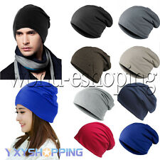 Unisex Mens Womens Knitted Oversized Ski Jersey Slouch Hat Warm Baggy Beanie Cap