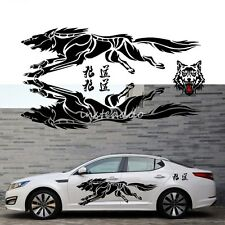 A Set Auto Wolf Styling Vinyl Car Truck Body Sticker Waist Line Graphics  Decals