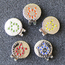 Crystal Zodiac Taurus Golf Ball Marker w Magnetic Golf Hat Clip Free Shipping