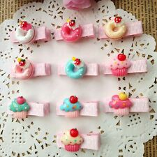 10pcs/lot cute resin cake Kids Girls Baby Hair Clip hair pins Hair Accessories