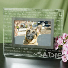 Personalized Dog Memorial Picture Frame Engraved Till the End Dog Photo Frame
