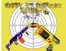 Nerf Wars Birthday cake topper Edible picture image sugar paper frosting round