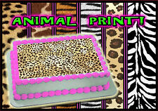 Edible cake toppers leopard cheetah zebra tiger sugar sheet picture print image