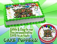 Teenage Mutant Ninja Turtles Edible Cake Topper image mutan sugar paper frosting