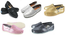 [TOMS] Womens Toms Classic Slip On 5 Colors Glitter -Flat Shoes