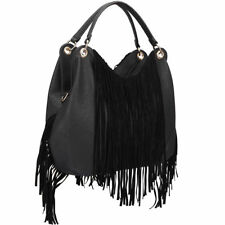 New Womens Handbags Faux Leather Satchel Hobo Tote Shoulder Bag w/ Tassels Purse