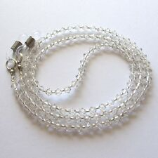 Silver Shade Swarovski Crystal Eyeglass Holder Glasses Specs Cord Strap Chain