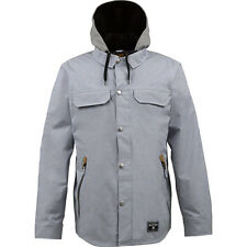burton restricted land line snowboard jacket M blue lake chambray new ships fast