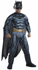 Batman The Caped Crusader Child Superhero Costume Mask Cape Belt Jumpsuit Outfit