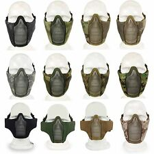 MA-42 Airsoft Tactical Half Face Fencing Mask Steel Mesh Padding Cycling Mask GY