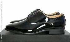 Mens Black Patent Oxford tie lace up Wedding uniform Dress shoe Sizes UK 6 - 14