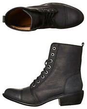 New Roc Boots Women's Territory Leather Boot Lace Leather Womens Shoes Black