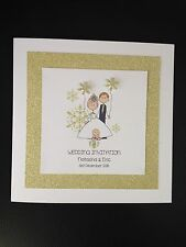Handmade Wedding/Evening Invitations - Bride & Groom With Baby Winter Snowflake