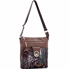 New Realtree Women Camouflage Leather Crossbody Bag Messenger Bag Daily Purse