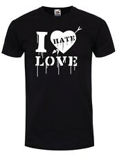 New Anti-Valentines Day T-Shirt - I Hate Love Black Mens