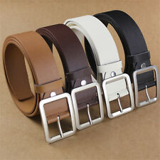 Unisex Leather Belt Pin Buckle Waist Belt For Men Women Casual Business PU Belts