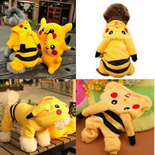 Pet Dog Cat Winter Pikachu Clothes Apparel Puppy Warm Jacket Hoodie Coat Costume