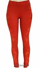My Pretty Angel Clothing Apparel Lucy Lacey Pant Legging In Rust S M L XL 41443